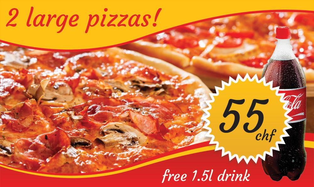 2 Large Pizzas X-Port deal